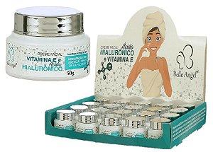 Creme Facial Hidratante com Vitamina E e Ácido Hialurônico Belle Angel I015 - Box com 19 Unidades