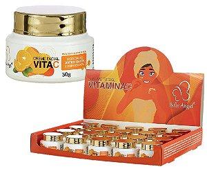 Creme Facial Hidratante Antioxidante com Vitamina C  Belle Angel I014 - Box com 19 Unidades