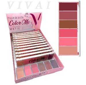 Paleta de Blush Matte Color Me Vivai 2004 - DIsplay com 12 Paletas e Expositor