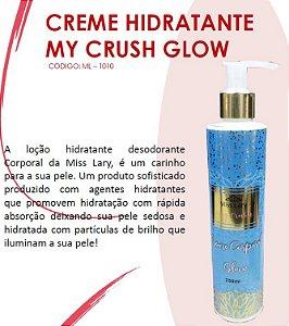 Creme HIdratante com Particulas de Brilho My Crush Glow ML1010 - Kit com 4 Unidades