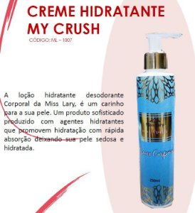 Creme HIdratante My Crush ML1007 - Kit com 4 Unidades
