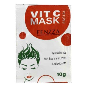 Máscara Facial Vit C Mask Sachê 10g Fenzza FZ38005 - KIt com 5 Unidades