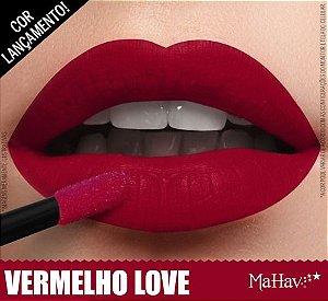 Batom Matte Mahav Vermelho Love    - kit com  12 Unidades
