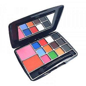 Kit de Maquiagem 2 Blush, 12 Sombras, Espelho e Pincel  Vivai 2013