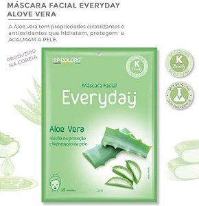 Máscara Facial Koreana SP Color Aloe vera EV006 - Kit com 10 Unidades