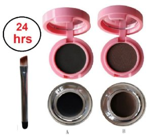 Kit Duo Sombra de sobrancelhas e Gel delineador Hello Mini Y122 - Kit com 2 Unidades