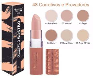Corretivo Bastão com Visor Max love - DIsplay com 48 Unidades + Provadores