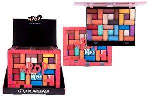 Paleta de Sombras Tetris 30 Cores Dapop HB96770 - Display com 12 Unidades