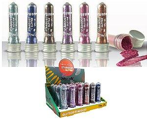 Glitter em Pó de Alto Brilho Stardust Queen - Display com 24 Unidades