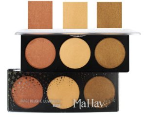 Paleta de Blush e Iluminador Grande 20,3 cm Mahav