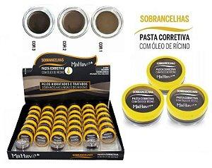 Pasta corretiva para Sobrancelhas com Óleo de Ricino Mahav  PC CS-MH - Kit com 36 Unid