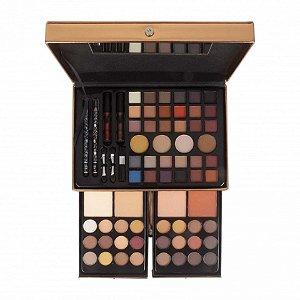 Maleta de Maquiagem Completa Sombras Nudes Rose Gold Playboy HB94676