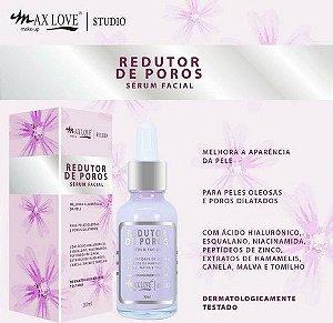 Serum Facial Pele Oleosas Redutor de Poros Dilatados Max love