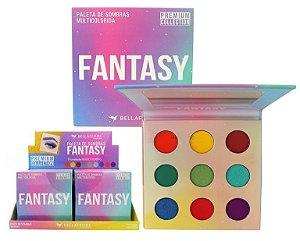 Paleta de Sombra Fantasy Com Espelho Bella Femme BF10067 - Display com 12 Unidades