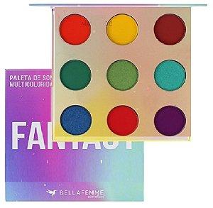 Paleta de Sombra Fantasy com Espelho Bella Femme BF10067
