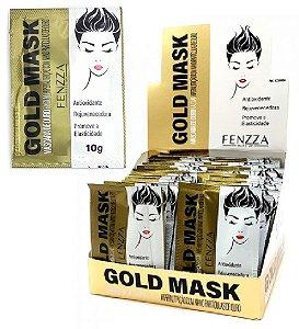 Máscara Facial Ouro Gold Mask Sachê 10g Fenzza FZ38004 - Kit com 50 Unidades