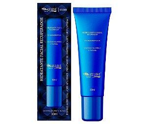 Novo Hidratante Facial Pós Maquiagem Recuperador Vitaminas e Àcido HIarulônico Max Love - Kit com 30 Unid + Prov