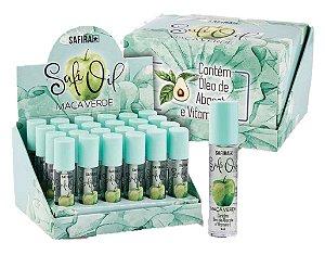 Lip Oil HIdratante Labial Maça Verde com òleo de Abacate e Vitamina E  Safira - DIsplay com 24 Unidades
