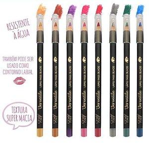 Lápis para Olho e Boca Resistente a Água Coloridos CIty Girl CG191 - Kit com 8 Unidades ( 1 cada cor )