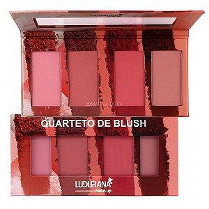 Quarteto de Blush Ludurana B00032 - Kit com 12 Unidades