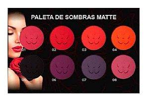Paleta de Sombras Matte 8 Cores Ludurana 7789 - Kit com 12 Unidades