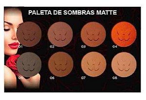 Paleta de Sombras Matte 8 Cores Nudes Ludurana M00045 - Kit com 12 Unidades