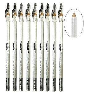 Dapop - Lápis de Olho Branco com apontador HB97452 - Kit com 36 Unid