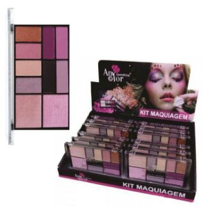 Kit Maquiagem Sombra e Iluminador Any Color 1814 – Box c/ 12 unid