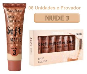 Base Soft Matte Ruby Rose ( Nude 3 ) - Kit c/6Unid  e Prov