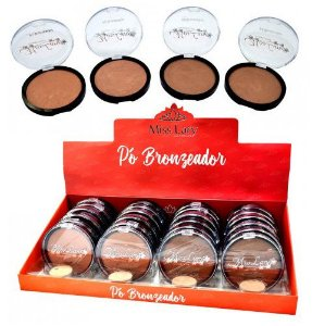 Pó Bronzeador Iluminador Facial Miss Lary ML303 - Kit com 4 unidades ( Cores Sortidas )