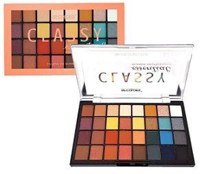 Paleta de Sombras 32 Cores Classy Essential SP Colors SP141 - KIt com 6 Unidades