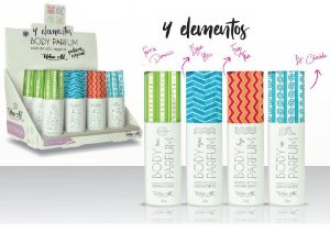Body Parfum 4 Elemento Queen - Display com 12 Unidades