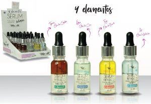 Serum Facial Bifásico 4 Elementos Queen Urban Art - Display com 24 Unidades