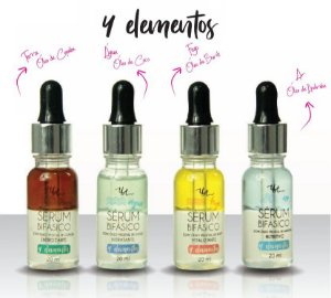 Serum Facial Bifásico 4 Elementos Queen Urban Art - Kit com 4 Unidades