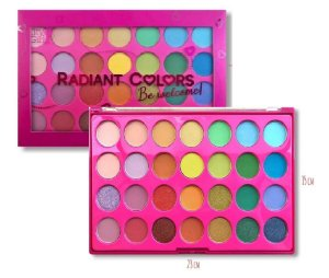 Paleta de Sombras Radiant Color BE Welcome CG204 - Kit com 4 Unidades