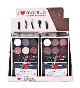 Paleta de Sobrancelhas I Love Makeup Vivai 4007 - Display com 12 unidades