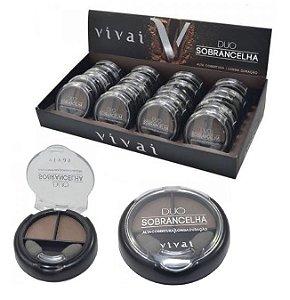 Sombra Duo de Sobrancelha Vivai 2199 - Display com 24 unidades