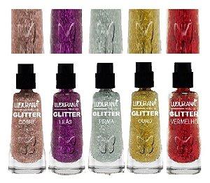 Sombra Glitter Solto em Pó Ludurana - Kit com 30 Unidade ( 6 de cada cor )