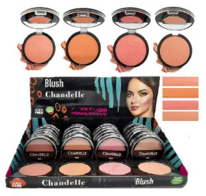 Blush Vegano Chandelle - Display com 24 Unidades e Prov