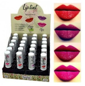 Lip Tint Gel Vegano Gloss Hair - Kit com 4 Unidades
