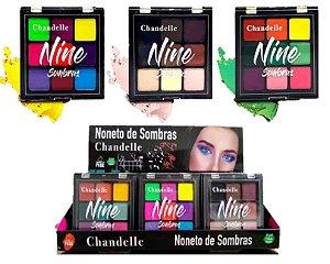 Paleta de Sombras Nine Chandelle - Display com 18 Unidades
