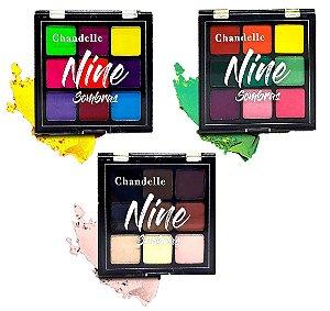 Chandelle - Paleta de Sombras Nine  - Kit com 3 Unidades