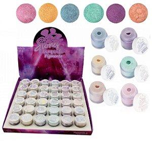 Pigmento Diamante Coleção Stones Playboy PB1074 - Kit com 36 unidades Cores Sortidas