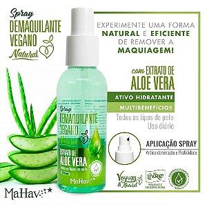 Demaquilante Vegano HIdratante com Aloe Vera Mahav