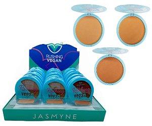 Po Facial Vegano Rushing Jasmyne Cores Escuras JS0809B - Kit com 24 Unidades e Prov
