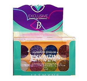 Paleta de Sombras Glitter Exclusive Jasmyne JS01058 B - DIsplay com 12 Unid
