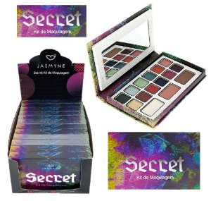 Paleta de Sombras Secret Jasmyne JS1005 - Display com 12 Unidades