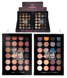 Paleta de SOmbras Look My Eyes City Girl CG130 - Display com 12 Unidades