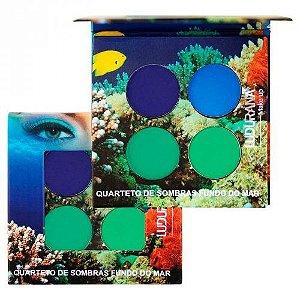 Quarteto de SOmbras Ludurana Fundo do Mar M000071 - Kit com 12 Unidades