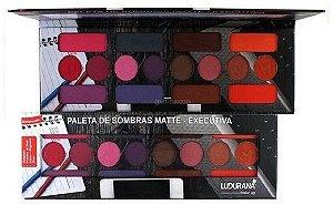 Paleta de Sombras Matte Executiva Ludurana M00035 - 12 Unidades